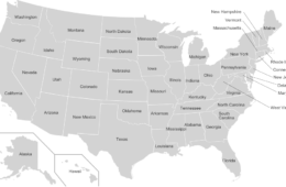 Alphabetical List of 50 States of the United States